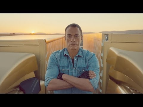 Here - Watch Jean-Claude Van Damme carry out his famous split between two reversing trucks. Never done before, JCVD says it's the most epic of splits -- what do you...