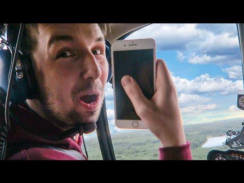 這男生將「新買的iPhone7」按錄影鍵後直接從直升機丟出,當他找到墜落的手機時卻驚訝到聲音都發抖了!