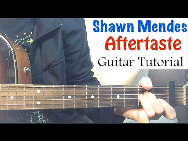 how to play aftertaste on guitar
