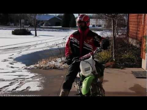 KLX 125 Snow Gooning