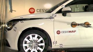 Crash test delantero Audi A1 en CESVIMAP