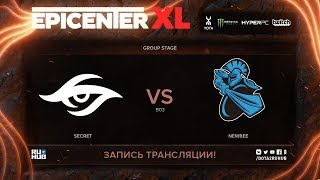 Secret vs Newbee, EPICENTER XL, game 3 [Maelstorm, Jam]