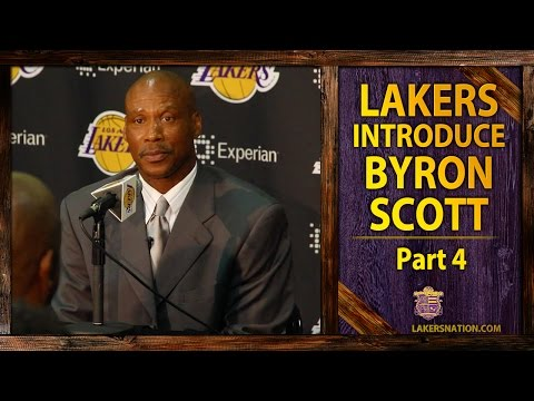 lakers - To end his Lakers introductory press conference, Byron Scott has a promise for Lakers fans. Plus, what does he have to say about the Clippers and LA being a Laker town. Join the Largest Lakers...