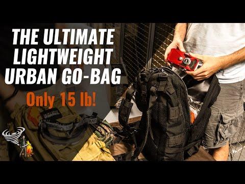 Urban Survival Kit / Bug Out Bag - TUUSK - 15 lb! (видео)
