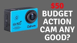 $50 Budget Action Cam Any Good?In this review, we take a look at this cheap budget action cam. Its only 1080p but the picture is pretty good.WIFI Underwater Camera HD 1080P Water Camera 170 Degree Angle Action Camera Waterproof 98FT with 19PCS Accessories for Kids, Diving, Surfing, Swimming, Snorkeling, Motorcycle and Water SportsUS http://amzn.to/2f35CLbUK http://amzn.to/2vZz3l8SpecificationsLens: 170 degree + HD wide-angle 6G lensVideo Format: MOVCompressed Format of Videos: H.264Resolution of Photos: 12M / 8M / 5MZoom: 4 × USB Interface: USB2.0Power Source Interface: 5V/1ABattery Capacity: 2pcs 3.7V Li-ion Battery 1050mAhRecording Time: 1080P/ About 121 minutes, 720P/ About 91 minutesCharging Time: About 3hoursOperating System (OS): Windows XP/VistaorAbove/Win7/Mac osPackage Contents1*ODRVM Underwater Camera2*Battery(1050mAh)1*Waterproof CaseBicycle Stand, Base 1, 2, Clip, Fixed BaseSwitch Support 1,2, 3Helmet Base , Bandage, Ribbon, 3M Adhesive TapeWire Rope, Data Wire, Manual, Wiper
