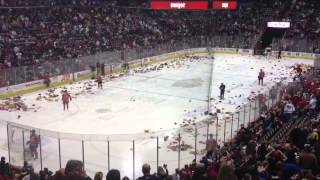 Cincinnati Cyclones Teddy Bear Toss 2013
