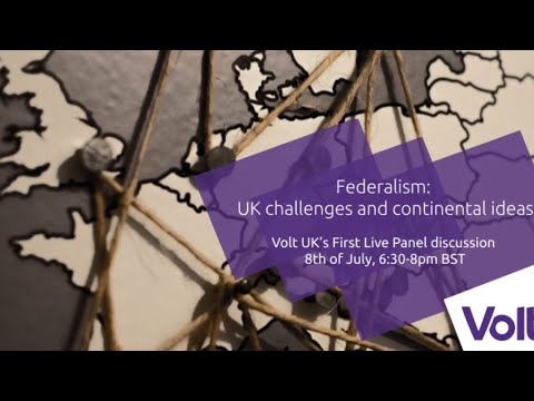LIVE: Federalism: UK Challenges and Continental Ideas