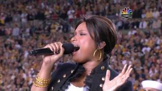 Hudson (OH) United States  city photos gallery : Jennifer Hudson - The Star Spangled Banner, Super Bowl XLIII 2009, subtitles lyrics HD 720p