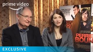 Harry Potter star Jim Broadbent is joined by Jodie Whittaker as they both talk about their action-packed gangster comedy Perrier's...