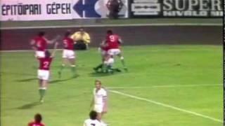 Tibor Nyilasi erzielt das 2:0 gegen Griechenland (1977)