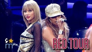 Watch Jennifer Lopez takes over Taylor Swift's stage in LA's Staples Center