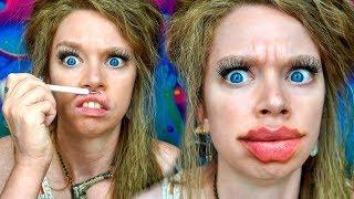 Testing Devil/Octopus Lips - TIKTOK Makeup Challenge by GRAV3YARDGIRL
