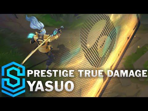 Prestige True Damage Yasuo Skin Spotlight - Pre-Release - League of Legends