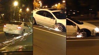 Jedzie baba samochodem… bez koła!