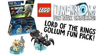 LEGO DIMENSIONS LORD OF THE RINGS GOLLUM FUN PACK UNBOXING!!! (LEGO Set No. 71218)