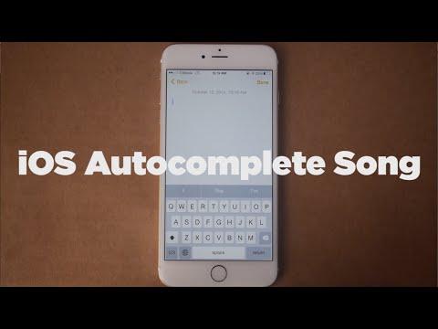 Dif�cil criar letra para uma m�sica? Usa o autocorretor do IOS da Apple!