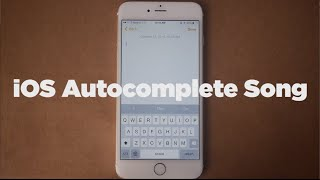 ♫ iOS Autocomplete Song | Song A Day #2110