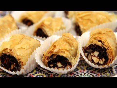 Chocolate Date M'Hencha (Moroccan Pastry Recipe) - CookingWithAlia - Episode 254 (видео)
