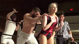 [FREE MATCH] Penelope Ford Jordynne Grace Maria Manic v. Pull-It Club | Beyond Wrestling Intergender