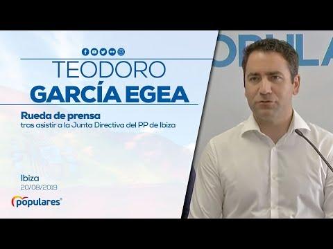 Rueda de prensa de Teodoro García Egea en Ibiza