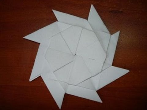 8 конечный сюрикен оригами
