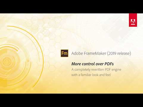 More control over PDFs – Adobe FrameMaker (2019 release)