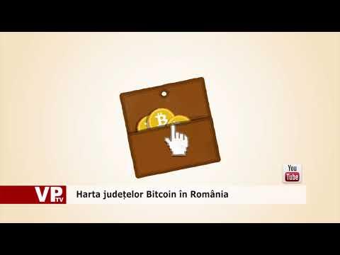 Harta județelor Bitcoin în România
