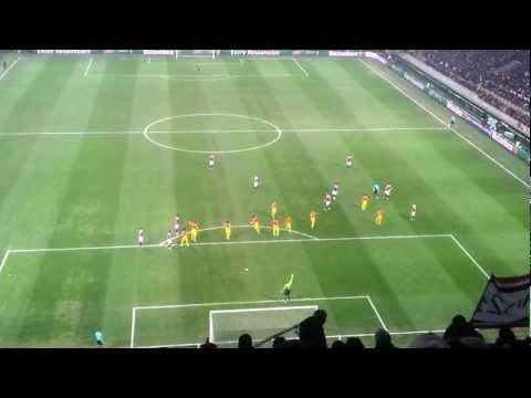 Milan-Barcellona 2-0,goal Boateng live curva sud,20/02/2013