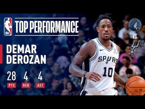 Video: DeMar DeRozan Season Debut With The San Antonio Spurs | October 17, 2018