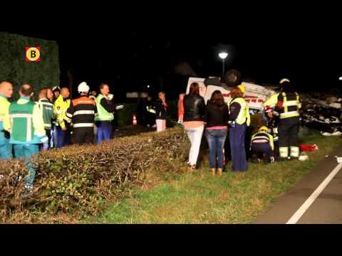 Dode en acht gewonden ongeluk Langstraat Deurne