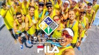 Muita Vibe boa, Adrenalina, Endorfina e MUITO CALOR com o #TeamFILA no RJ.