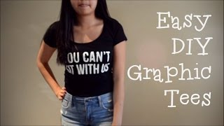 DIY Graphic Tees (without transfer paper) - YouTube