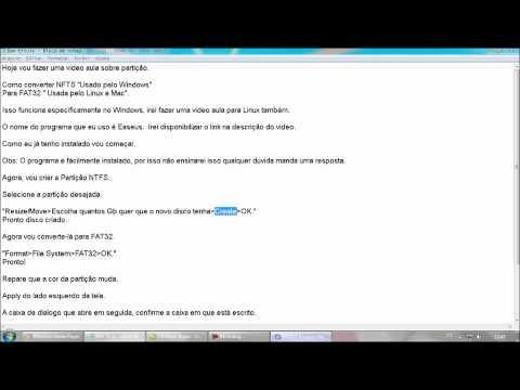 Como converter NTFS para FAT32