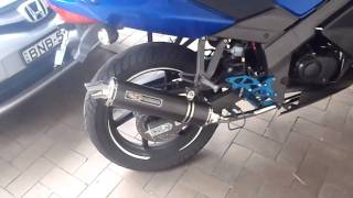 9. Kymco Quannon 125cc With WRRP Exhaust & Rearsets, Soundcheck.