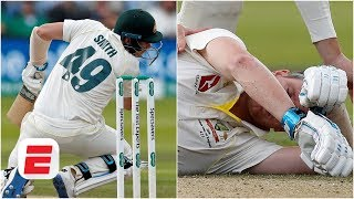 Steve Smith floored by Jofra Archer bouncer - did England players react properly? | Ashes 2019