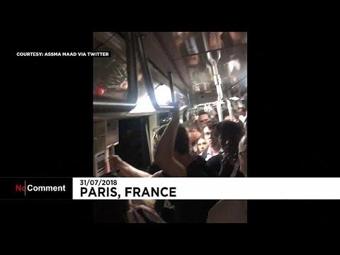 Παρίσι: Εγκλωβίστηκαν στο μετρό μέσα στην ζέστη!