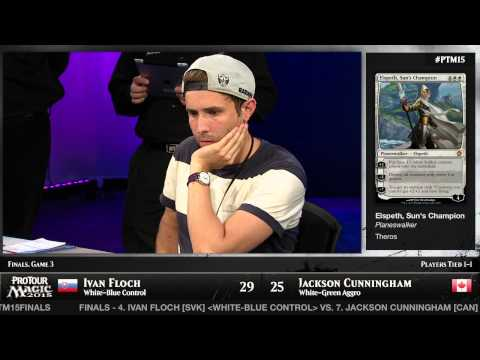 the pro - In a battle of experience versus the newcomer with the Pro Tour lineage, Ivan Floch faces Jackson Cunningham in an epic Pro Tour Magic 2015 finals.