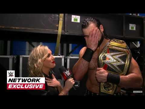 Drew Mclntyre celebrates his second WWE championship victory: Nov. 16, 2020