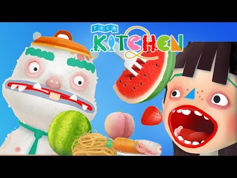 Fun Cooking Kids Games - Children Cook Delicious Foods With Toca Kitchen App For Toddlers