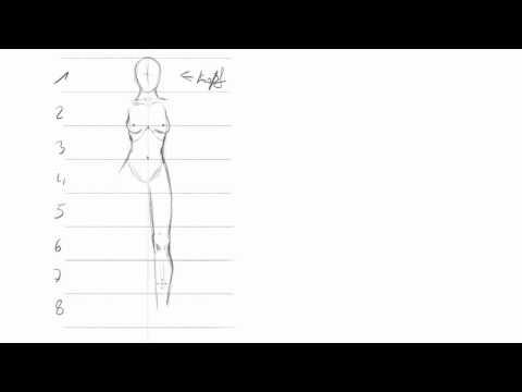 Frauen zeichnen (1): Grundlegende Proportionen