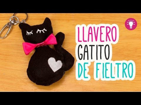 DIY Peluche de Gatito - Llavero de Fieltro Kawaii - Paso a Paso | Mini Tip # 76