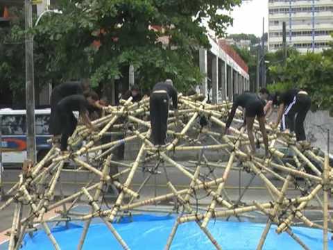CRESCER E VIVER - Projeto Domo Geodesico de Bambu/ 2009