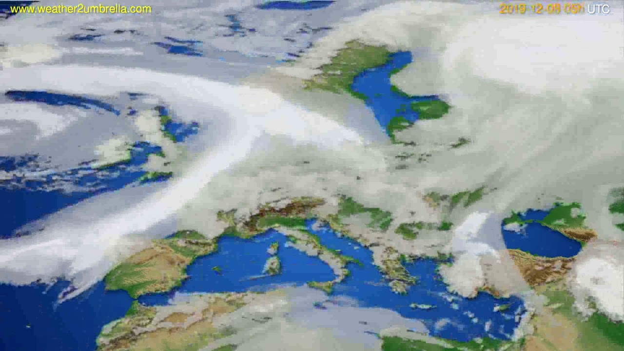 Cloud forecast Europe // modelrun: 12h UTC 2019-12-06