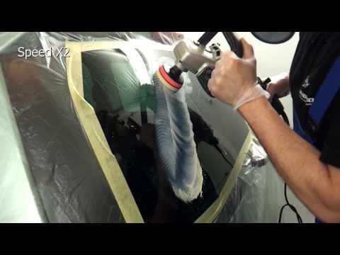 Polerowania szyby samochodowej - tlenek ceru test