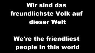 """Very popular song """"Deutschland"""" by German music group """"Die Prinzen"""""""