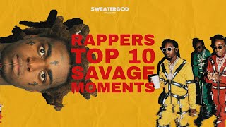 Video Rappers Top 10 Savage Moments MP3, 3GP, MP4, WEBM, AVI, FLV Februari 2019