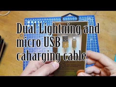 Dual charging cable from Banggood