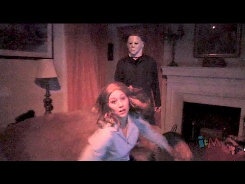 %22Halloween%22 Michael Myers haunted house at Halloween Horror Nights 2014%2C Universal Orlando