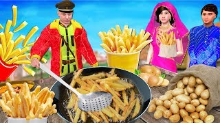 फ्रेंच फ्राइज French Fries Hindi Kahaniya | Bedtime Moral Stories | Panchtantra Fairy Tales 3D