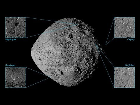 貝努小行星採樣候選地點